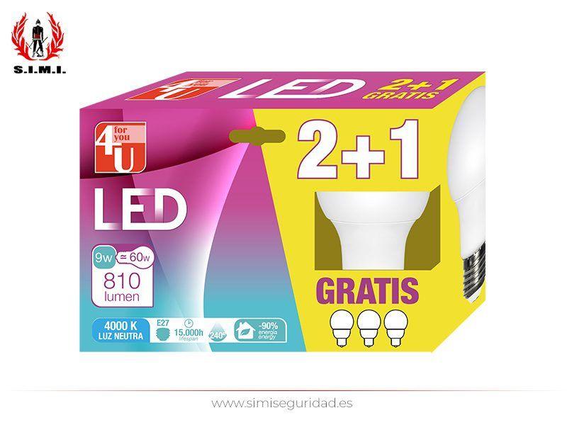 GARZA401159 - LED Standard GARZA A60 9W E27 Neutra 2+1