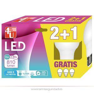 GARZA401160 - LED Standard Garza A60 9W E27 Fría 2+1