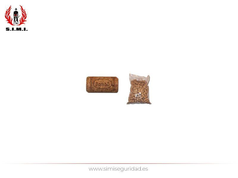 48741014 - Bolsa 200 corchos Bambu colmado oscuro