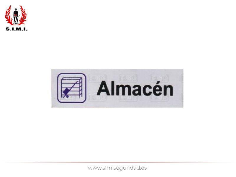 ALSER242 - Placa adhesiva Alser 150X45 mm aluminio plata serigrafiada