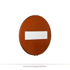 1020000601 - Señal M.O.P.U. disco de acero 60cm nivel 1 - Dirección Prohibida