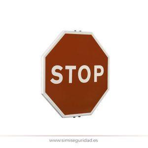 1030000601 - Señal M.O.P.U. acero octogonal 60cm Nivel 1 - STOP