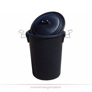 503160 - Cubo de basura plastico negro