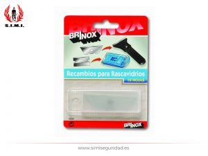 B42040E - Blister Brinox 10 hojas rascavidrio B42040E