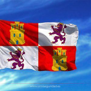 BANDERA275X50 - Bandera Castilla y Leon estampada 75x50