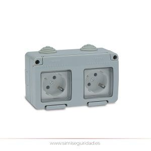 F19071 - Base estanca doble TT-L 16 Amp IP55