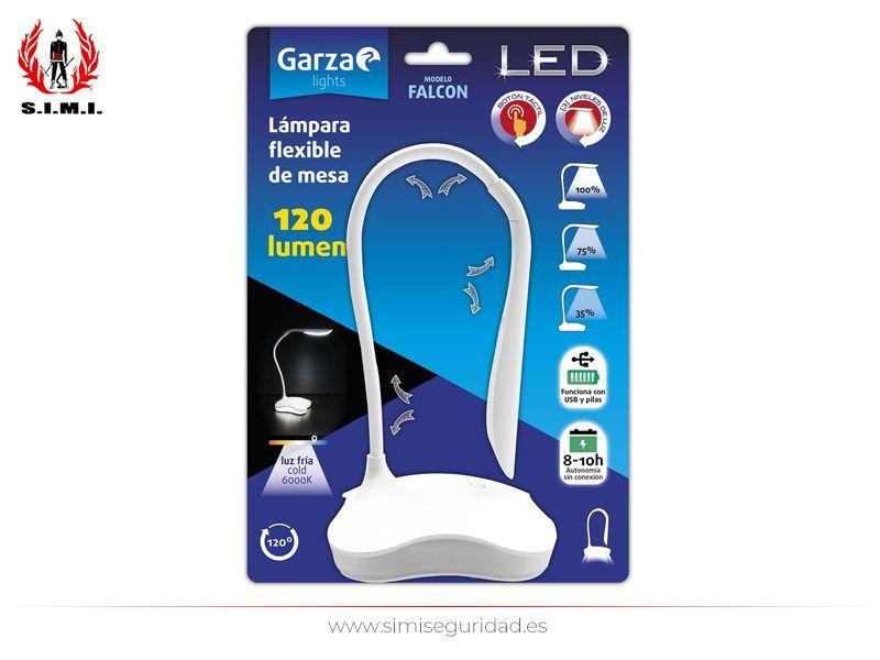 GARZA401233 - Lampara mesa flexible Garza USB-Pilas