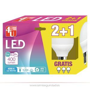 Led Esferica GARZA, 5W E27 Neutra 2+1