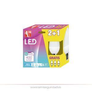 GARZA401163 - LED Vela GARZA 5W E14 Neutra 2+1