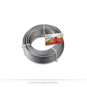 M86124G - Cable acero galvanizado 6 mm X 20 m