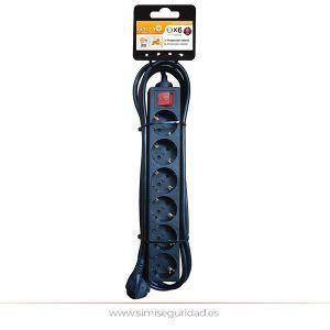 GARZA420028 - Basic Power GARZA 6 tomas negro