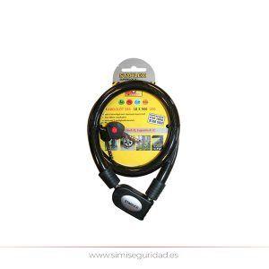 08016 - Candado de cable forrado con LED 18 x 900