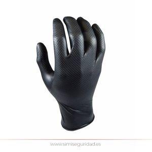 104439 - Guante desechable nitrilo Grippaz L-9 escamado negro