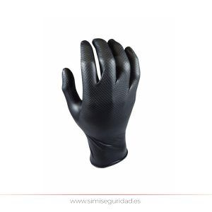 104440 - Guante desechable Nitrilo Grippaz XL-10 escamado negro