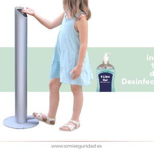 Dispensador gel hidroalcoholico de pedal + gel 1l