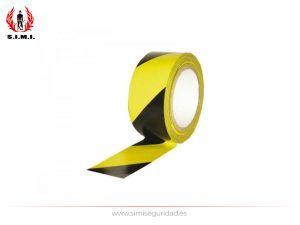 FM05011 - Cinta adhesiva suelo amarillo-negro 50mm - 33m