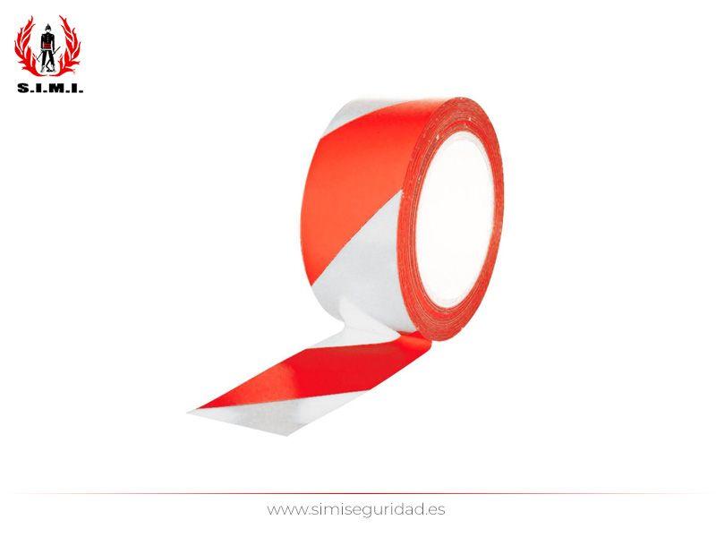 FM05012 - Cinta adhesiva suelo rojo-blanco 50mm - 33m