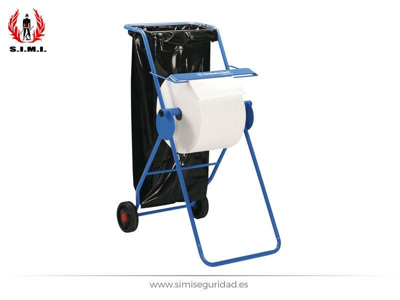Portabobinas movil Kimberly-clark de color azul